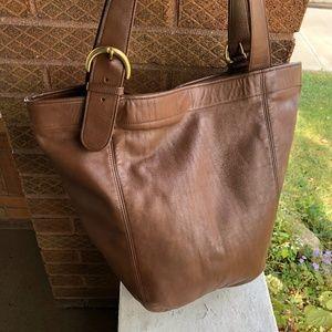 COACH Vintage XL USA Bucket Leather Feed Bag 4082